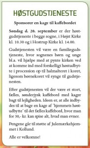 Høstgudstjeneste 200915
